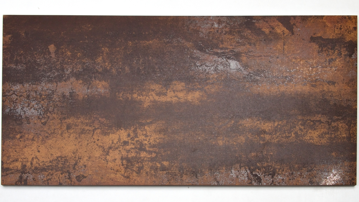 MP0037BZ - Rustic Glaze Metallic Porcelain Tile, Bronze