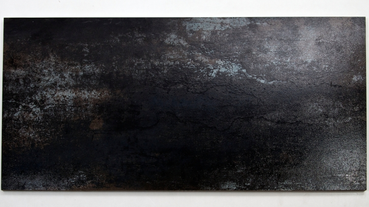 MP0037BK - Rustic Glaze Metallic Porcelain Tile, Black