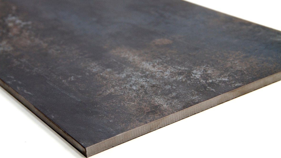 MP0037BK - Rustic Glaze Metallic Porcelain Tile, Black