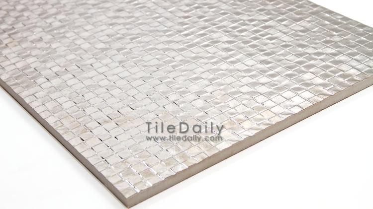MP0025BZ - Square drop texture Metallic Porcelain Tile, Champagne