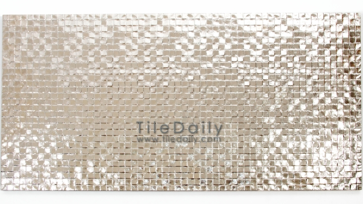 MP0025BZ - Square drop texture Metallic Porcelain Tile, Champagne