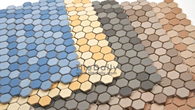 Matte Hexagon Porcelain Mosaic 5 Colors Tiledaily