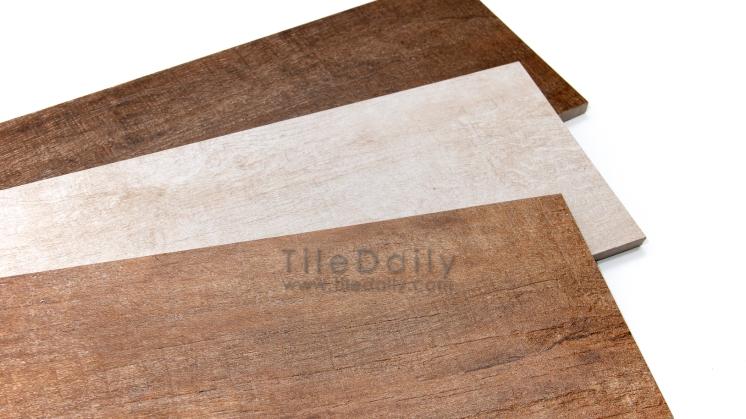 Scraped Wood Porcelain Tile, 3 Colors
