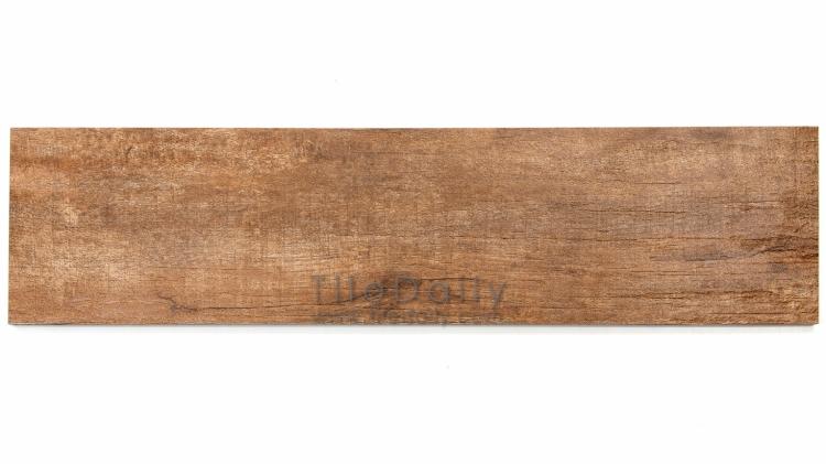 PW0018BN Scraped Wood Porcelain Tile, Chestnut