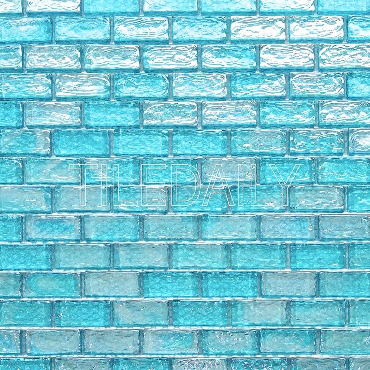 turquoise blue glass mosaic tile for shower wall and kitchen backsplash