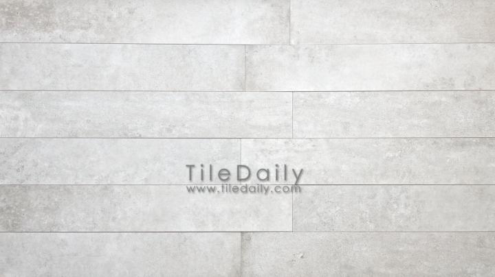 P0059LGY - 4x12 Cement Porcelain Plank, Light Grey