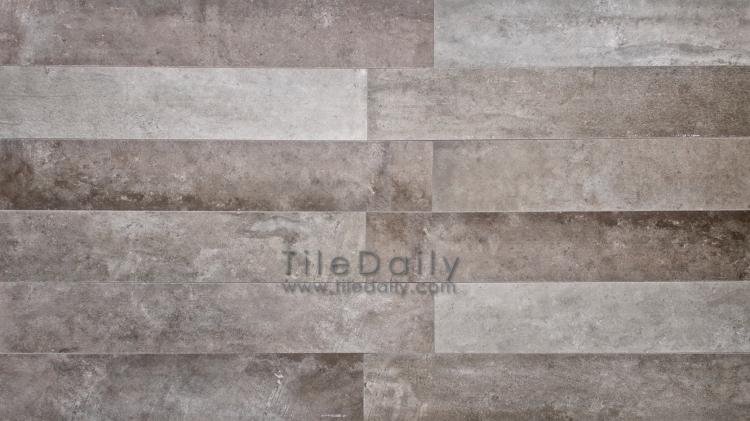 P0059DGY - 4x12 Cement Porcelain Plank, Graphite