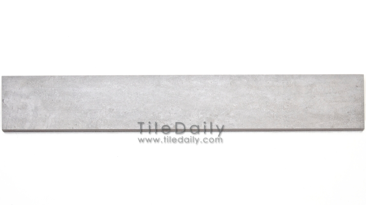 P0059LGY - 4x12 Cement Porcelain Plank, Light Grey