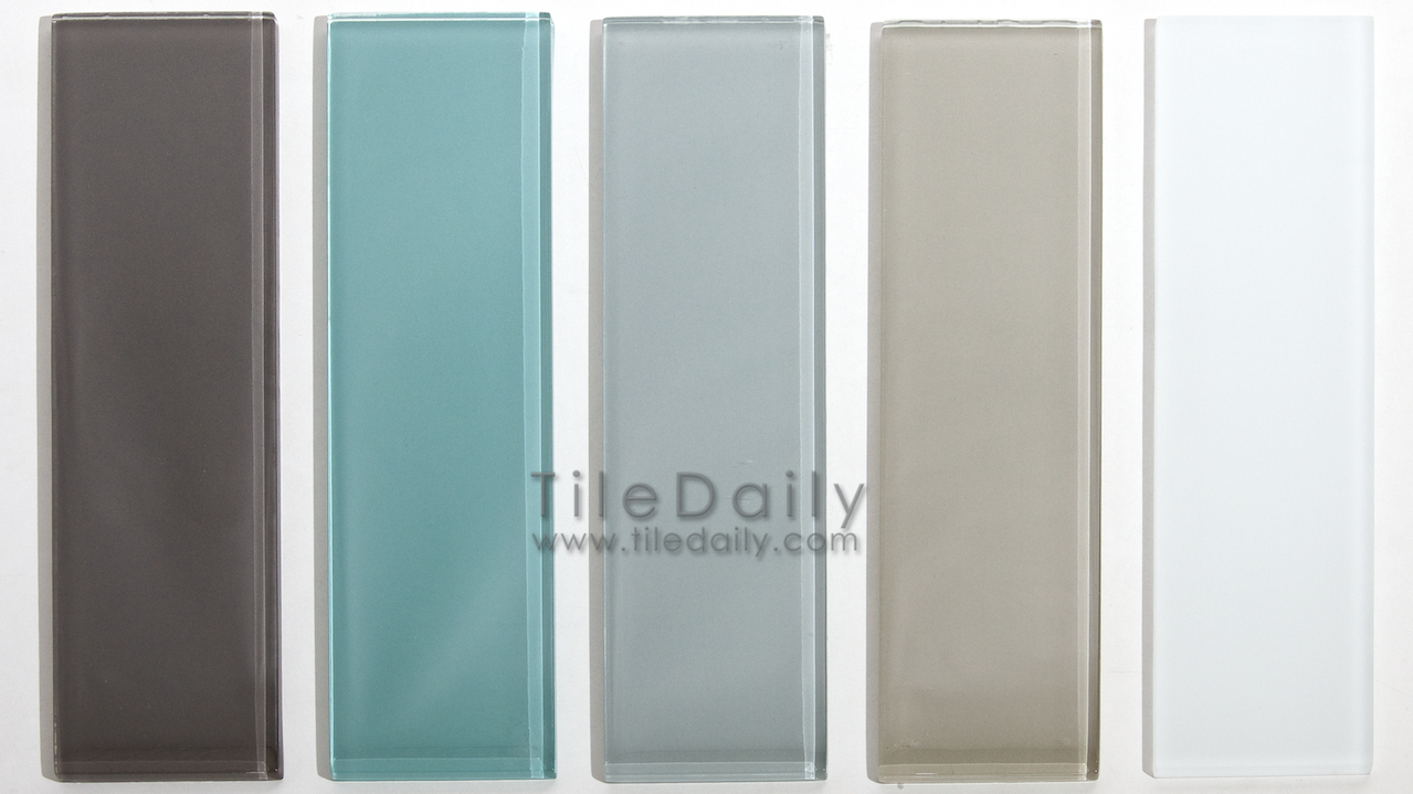 gm0087 3x12 glass subway tile 5 colors taupe teal green light - Colorful Subway Tile