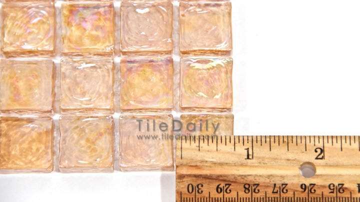 GM0110 - Peach Iridescent Square Glass Mosaic - SALE $11.95/sq.ft