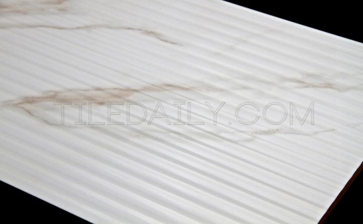 P0069 - Calacatta Grooves Ceramic Tile