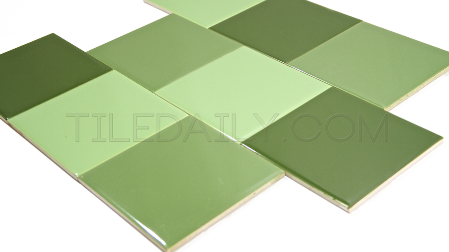 P0068 - Ceramic Wall Tile, 18 Colors Bright Green, Lime Green, Pepper Green