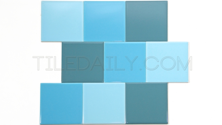 P0068 - Ceramic Wall Tile, 18 Colors Light Blue, Sky Blue, Country Blue