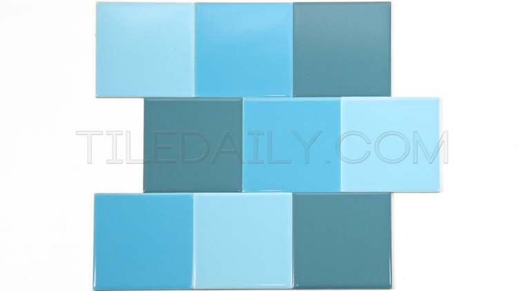 P0068 - Ceramic Wall Tile, 18 Colors Light Blue, Sky Blue, Country Blue