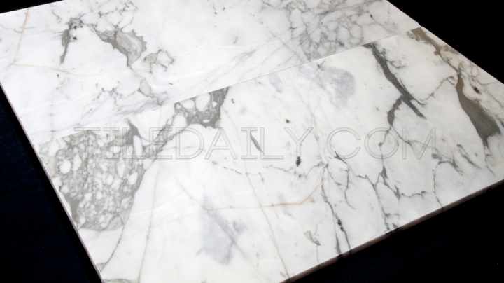 White Carrara Marble Tile – Dramatic Vein