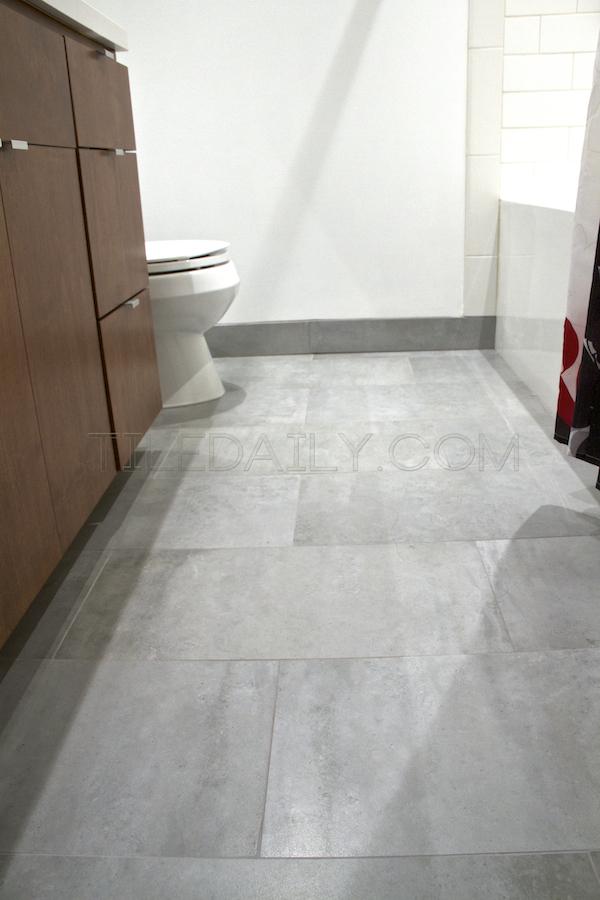 Cement Porcelain Tile - Bathroom Installation