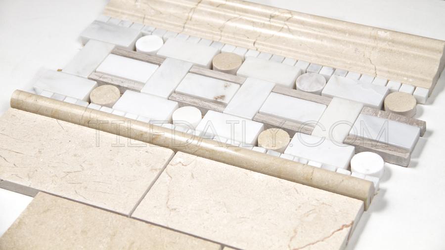 NS0038CM - Crema Marfil Marble Brick Mosaic