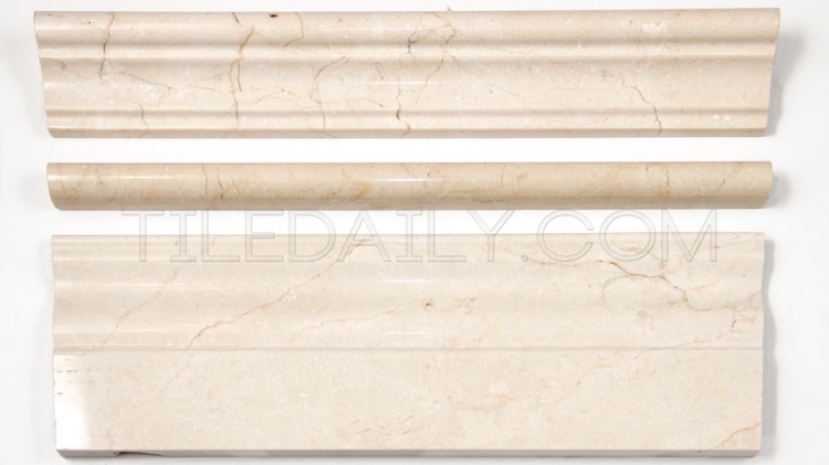 Crema Marfil Marble Trims: Baseboard, Chair Rail and Pencil Liner