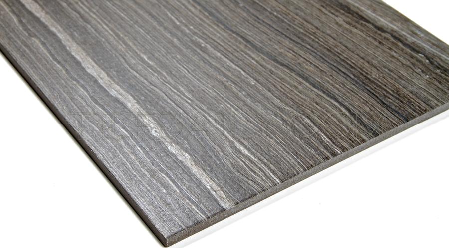 P0071DGY - Vein Cut Series Porcelain Tile, Dark Grey. 12x24