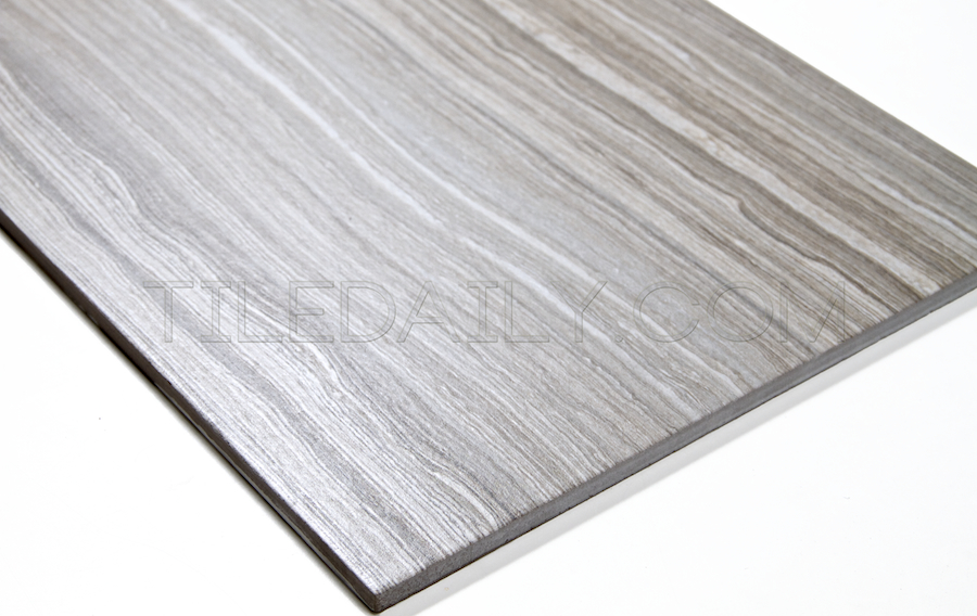 P0071LGY - Vein Cut Series Porcelain Tile, Light Grey. 12x24