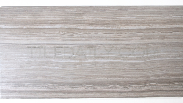 P0071LGY - Vein Cut Series Porcelain Tile, Light Grey. 12x24