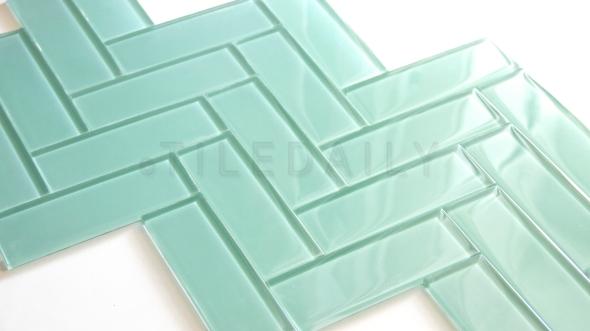 Glass Subway Tile, Light Green