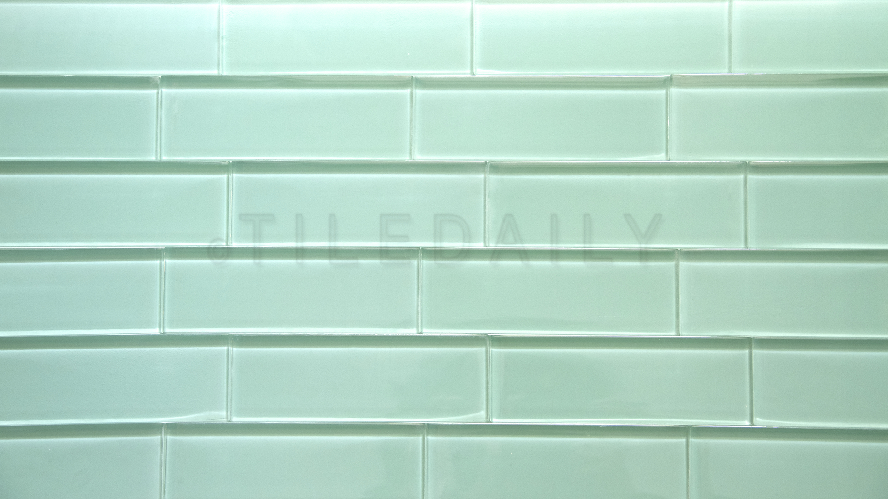 Green glass subway tile for Images of subway tile