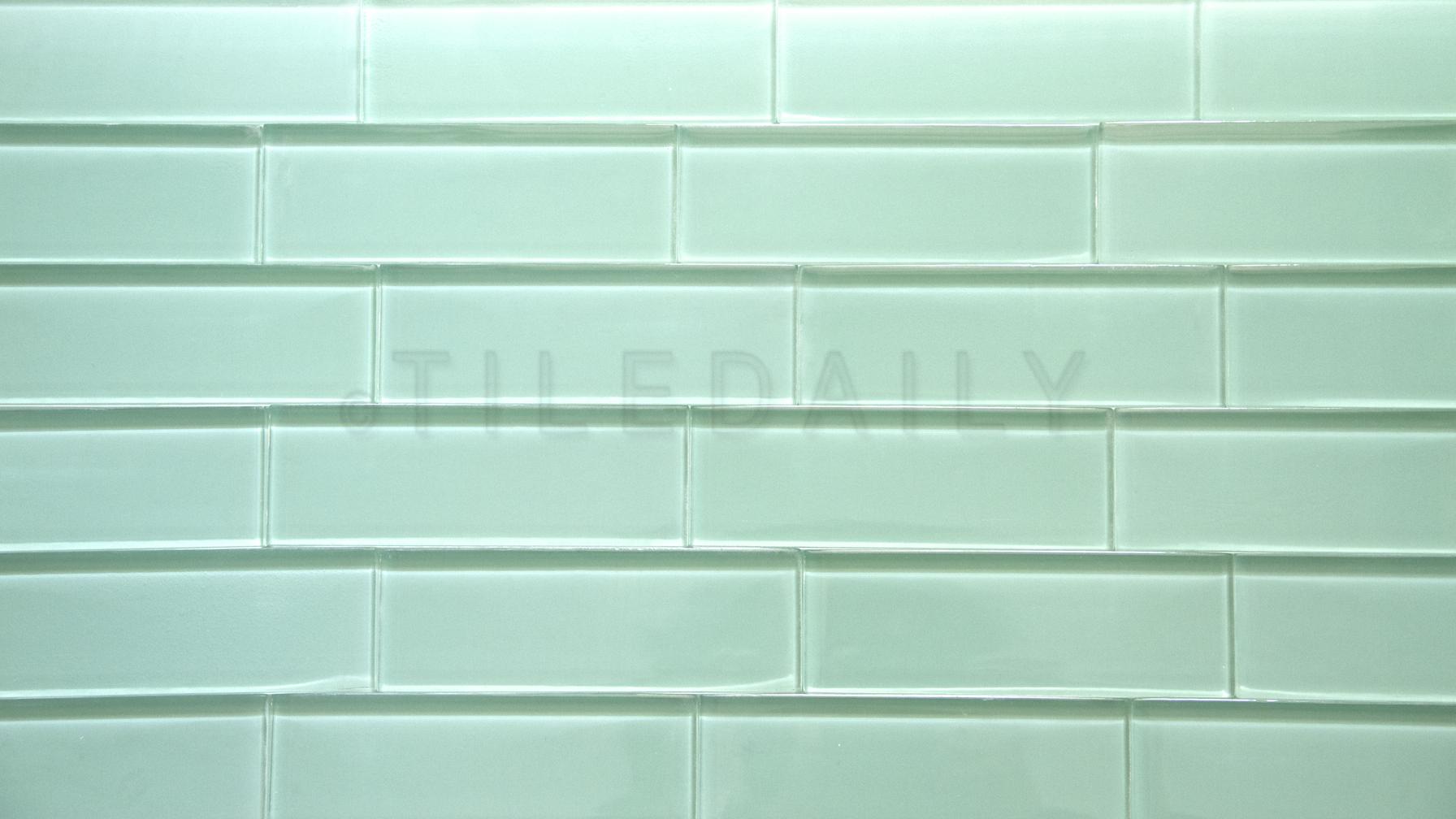 Glass Subway Tile Light Green Tiledaily