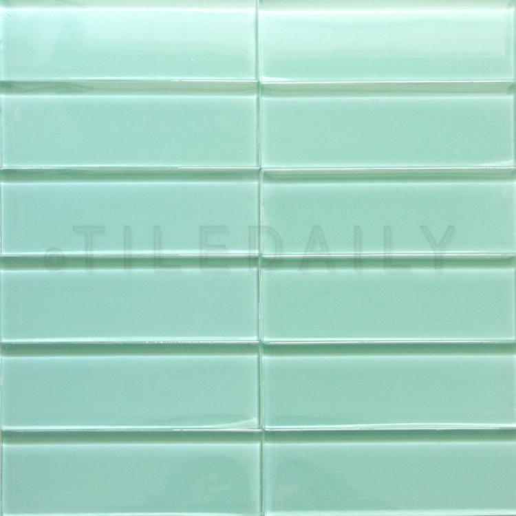 GM0113 - Glass Subway Tile, Light Green