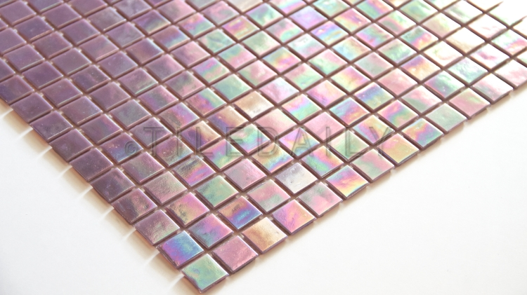 GM0040LC - Iridescent Opaque Glass Mosaic, Lilac ON SALE $6.95/sq.ft