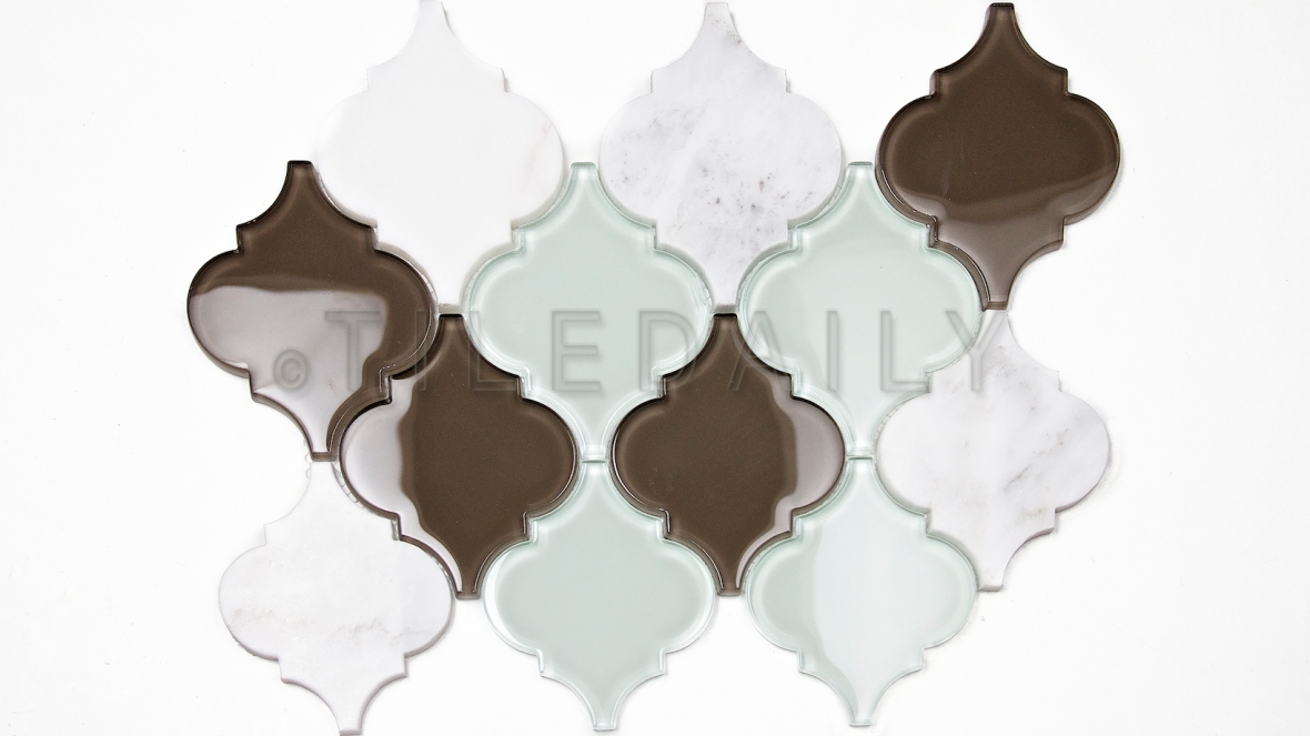 GM0116 - Lantern Glass and Marble Mosaic