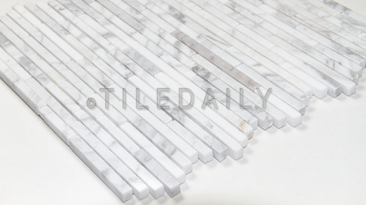 Linear Random Strip Carrara Mosaic