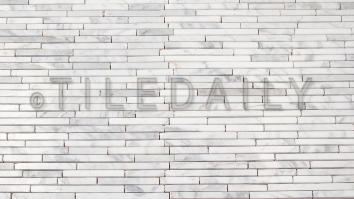 NS0061 Linear Random Strip Carrara Mosaic TileDaily