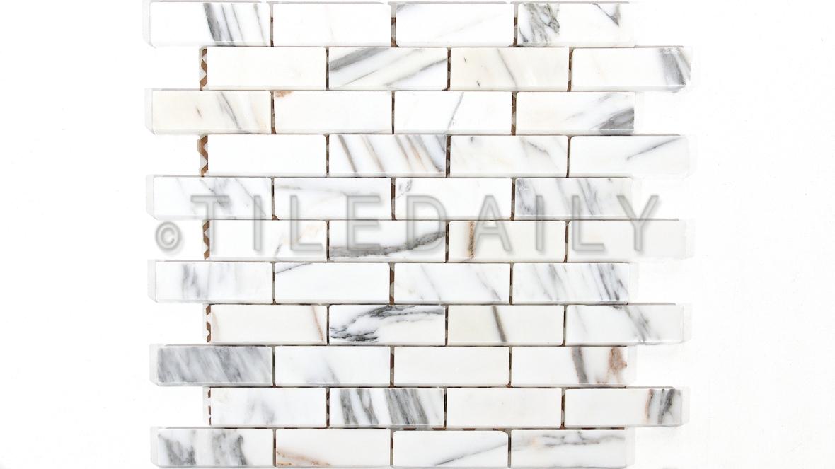 NS0066 - 1x3 Calacatta Gold Brick Mosaic