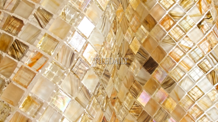 Iridescent Glow Series Glass Mosaic