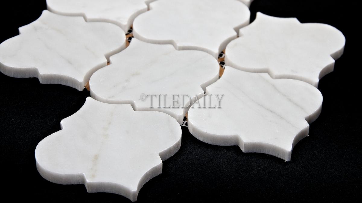 Lantern Marble Mosaic White Carrara Tiledaily