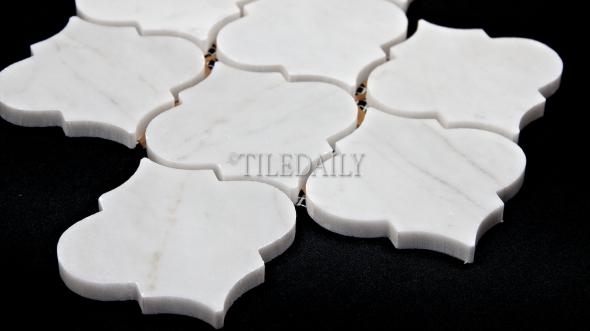 Lantern Marble Mosaic, White Carrara