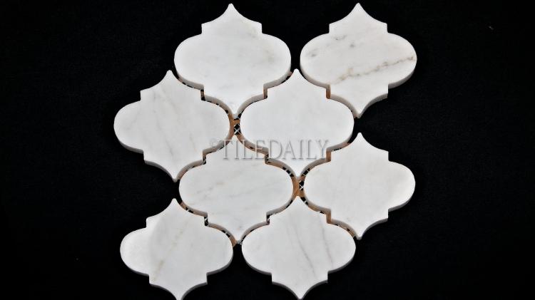 NS0067 - Lantern Marble Mosaic, White carrara Polished