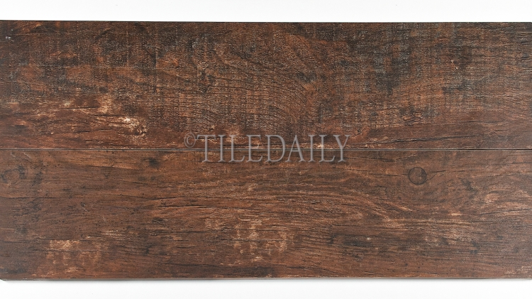 PW0021DBN - Rustic Wood Porcelain Tile, Dark Brown