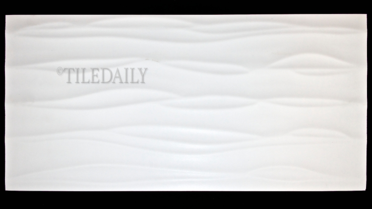 P0074 Wave Matte Porcelain Tile, White