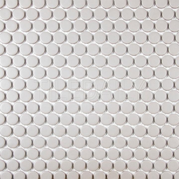 penny round porcelain cc mosaic hudson penny tile