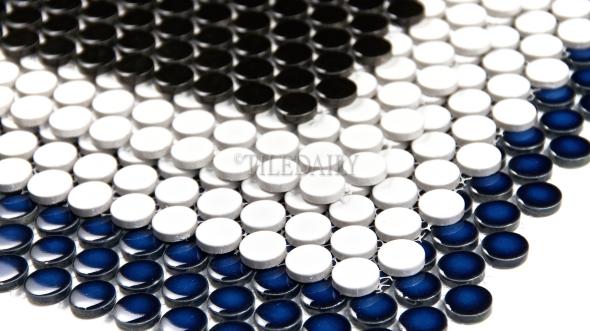 PM0006 - Penny Round Porcelain Mosaic, 3 Colors