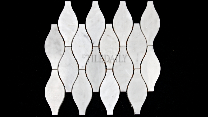 Vase Carrara Marble Mosaic