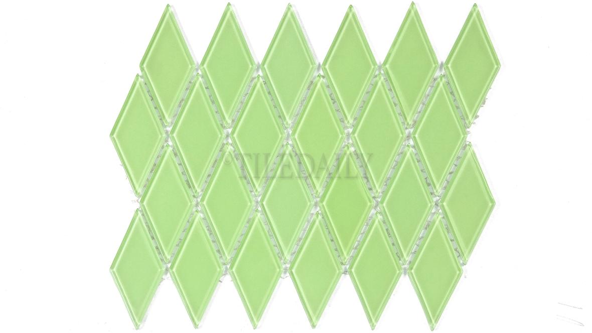 GM0122GN - Diamond Glass Mosaic, Green
