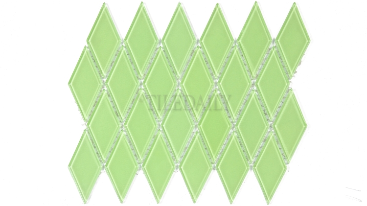 GM0122GN - Diamond Glass Mosaic, Green