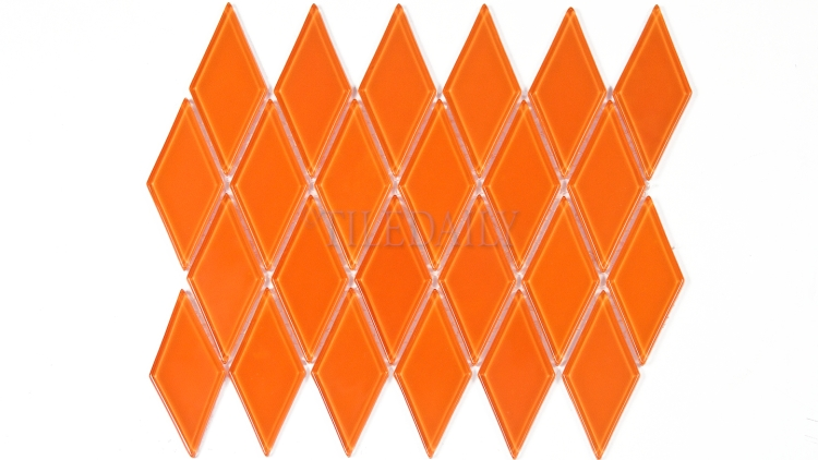 GM0122OE - Diamond Glass Mosaic, Orange