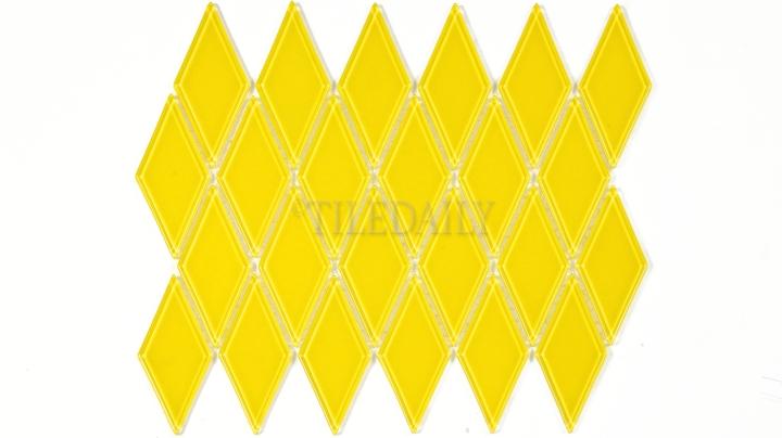 GM0122YW - Diamond Glass Mosaic, Yellow