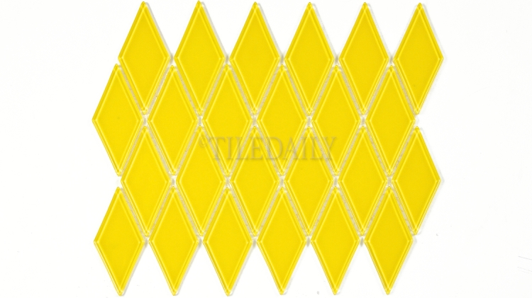 GM0122YW - Diamond Glass Mosaic, Yellow