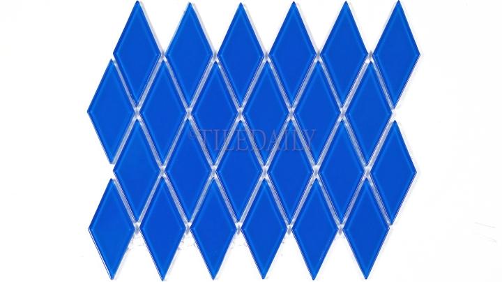 GM0122BE - Diamond Glass Mosaic, Blue