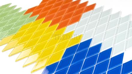 GM0122 - Diamond Glass Mosaic, 5 Colors - SALE